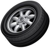 Compact cars wheel Stock Photo