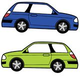 Compact Cartoon Car Stock Photo