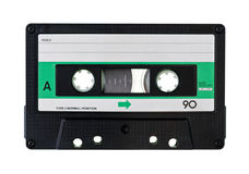 Compact Cassette. Vintage Compact Cassette on white background Royalty Free Stock Images