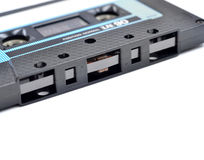 Compact cassette close up Stock Image