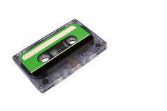 Compact Cassette isolated on white. Front right Stock Photo