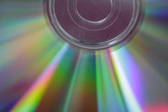 Compact CD close up stock photo