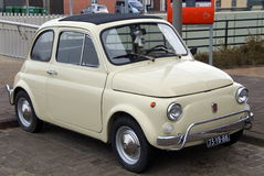 Compact Classic Vintage Italian Car  - Fiat 500 Royalty Free Stock Photos