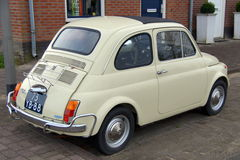 Compact Classic Vintage Italian Car  - Fiat 500 Royalty Free Stock Photo