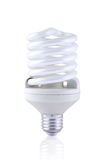 compact den fluorescerande lightbulbspiralen Arkivbilder