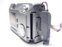 Compact Digital Camera. Closeup with white background Stock Images