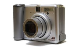 Compact digital camera. On white background Stock Image