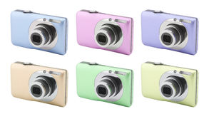 Compact digital camera. With clipping path Royalty Free Stock Images