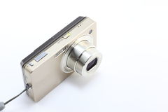 Compact Digital Camera. I have taken a picture of a typical compact digital camera as a tool for the digital age now familiar Royalty Free Stock Photography