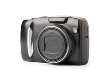 Compact digital camera. On white Stock Photo