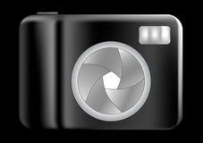 Compact digital camera. Design, good for logo, web site or anything else Stock Image
