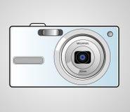Compact digital camera. Illustration - compact digital camera stock illustration