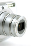 Compact digital camera lens Stock Photo