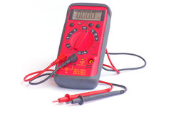 Compact digital multimeter for electric circuits diagnostic Royalty Free Stock Photography