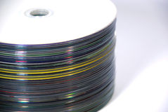 Compact Disc. Laser disks, for a computer Royalty Free Stock Photo