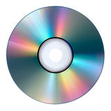Compact disc. Media disc isolated against white background Royalty Free Stock Image