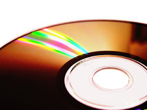 Compact Disc. With light reflection royalty free stock photos