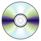Compact disc. No mesh or transparency, blend and gradient only Royalty Free Stock Photography