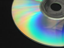 Compact Disc. Reflective surface of a compact disc (CD royalty free stock photos