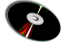 Compact Disc. With light reflection stock image