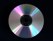 Compact Disc. Comapct Disc against black background Royalty Free Stock Images