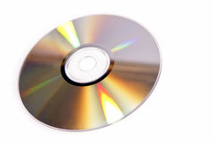 Compact disc. Isolated on white Stock Image