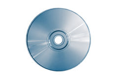 Compact disc (blue toned). Compact disc on a white background close up Stock Images