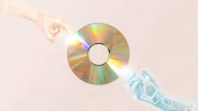 Compact disc (CD) Fotografie Stock Libere da Diritti