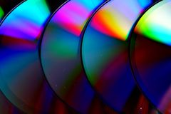 Compact disc of Cd's stock foto