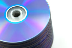 Compact disc CD's stack on white Stock Images