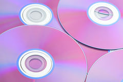 Compact disc close up stock photography