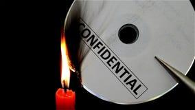 Compact disc confidencial ardente video estoque