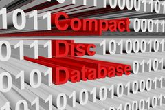 Compact Disc Database Royalty Free Stock Image