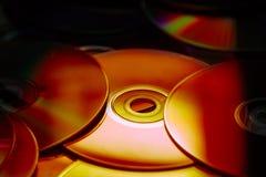 Compact disc del primo piano Fotografia Stock