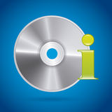 Compact disc design Royalty Free Stock Image