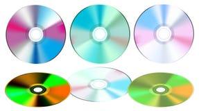 Compact-disc die op wit wordt geïsoleerdr stock illustratie