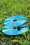 Compact disc e fone de ouvido Imagem de Stock Royalty Free