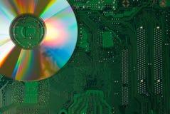 Compact-disc en motherboard Royalty-vrije Stock Fotografie