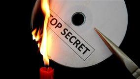 Compact disc extremamente secreto ardente video estoque