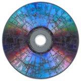 Compact disc frantumato fotografie stock