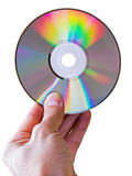 Compact disc in the hand Stock Photo