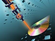 compact disc het branden royalty-vrije illustratie
