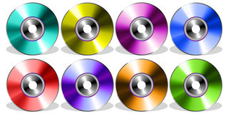 Compact disc Icones Immagine Stock