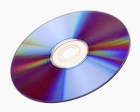 Isolated Compact Disc CD. A compact disc isolated on white background Stock Photos
