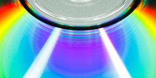 Compact disc macro Royalty Free Stock Image