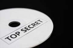 compact disc met bovenkant - geheim royalty-vrije stock foto