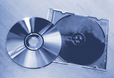 Compact Disc On The Table Stock Photos