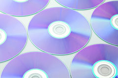 Compact disc. Over the white background Royalty Free Stock Images