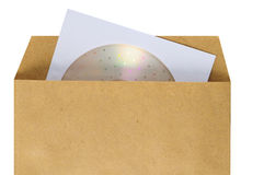Compact disc package. royalty free stock photos