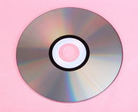 Compact disc on pink Stock Photography